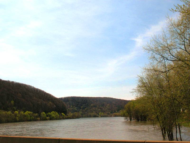 The Allegheny River in Franklin, PA