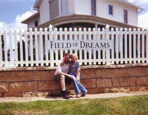 My daughter and I at The Field of Dreams