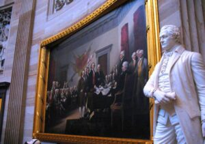 Capitol rotunda paintings and statuary