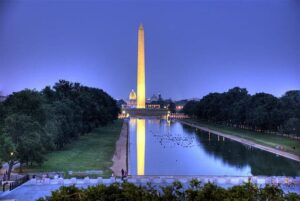 Washington DC at dusk