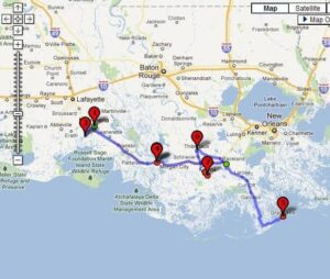 Acadiana Tour Interactive Map