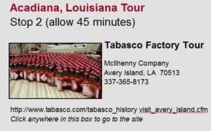 Acadiana Tour Stop 2