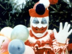 John Wayne Gacy in clown make up