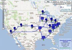 My American Odyssey Map Jasper AR