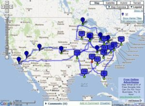 Orlando to Huntsville Route Map
