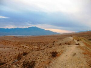 A ridge top trail at Coachella Valley Preserve in Thousand Palms, CA