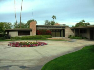 Frank Sinatra's house in Palm Springs.