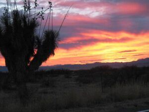 Sunset near Ft. Bowie National Historic Site
