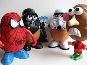 Mr. Potato Head and friends