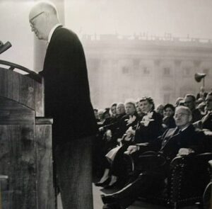 Eisenhower and Truman at Eisenhower's inauguration.