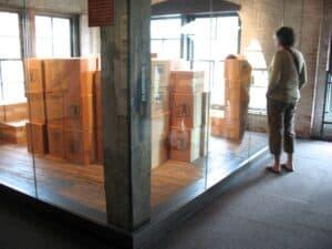 Sixth Floor Museum, the corner where Oswald shot Kennedy.