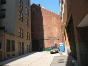 The alley behind Ford's Theater as it appears today.