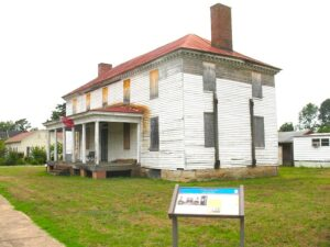 Peyton house in Port Royal, Virginia where John Wilkes Booth was turned away.