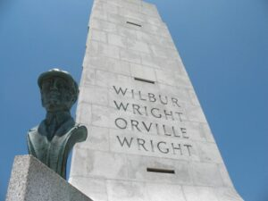 The Wright Brother's National monument in Kitty Hawk, NC