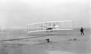 Wright brothers first airplane.