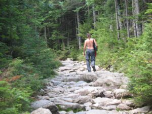 Lower portion of Tuckerman Ravine trail