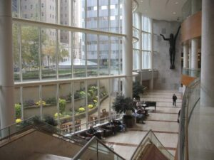 Atrium of the Gonda Building of the Mayo Clinic