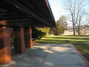 Patio of Frank Lloyd Wright's Schwartz House