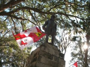 Statue of Ponce de Leon at the Fountain of Youth Archaeolgical Park