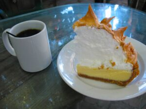 Key lime pie at Blue Heaven in Key West