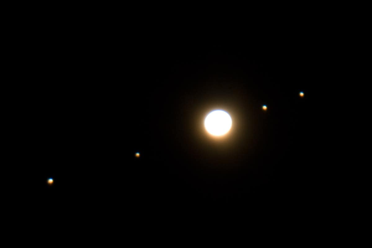 moons and jupiter in telescope - photo #20