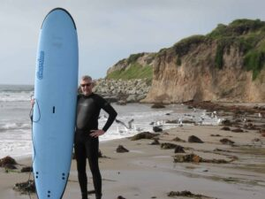 Malcolm Logan at Campus Point at the University of California Santa Barbara