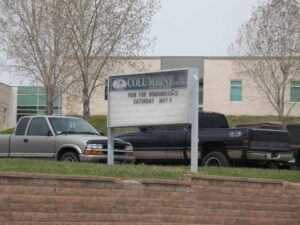 Columbine High School site of the Columbine Shootings