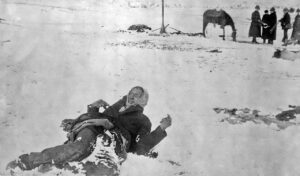 Big Foot dead at Wounded Knee
