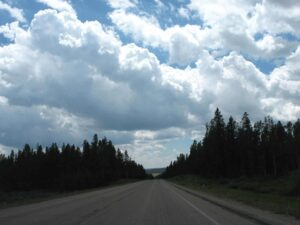 Clouds above the Black Hills of South Dakota