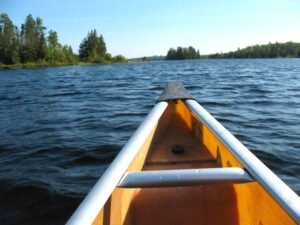 Canoe in the Boundary Waters near Ely, Minnesota