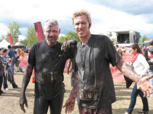 Malcolm Logan and Curt Logan at the Warrior Dash in Grand Rapids, MI