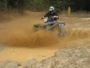 Malcolm Logan mud bogging at Carolina Adventure World