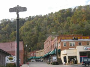 Hatfield Street in Matewan, WV