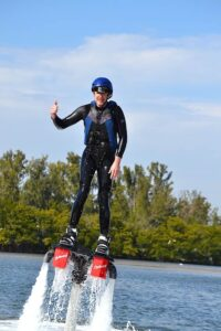 Malcolm Logan masters the Flyboard at FMB Flyboard in Fort Meyers, FL