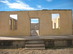 Ruins of the base hospital at Fort D.A. Russell in Marfa, TX