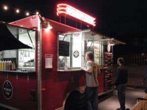 Food truck on Congress Avenue in Austin