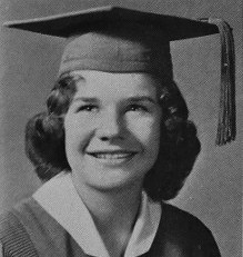 Janis Joplin yearbook picture