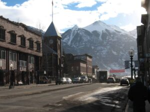 Colorado Avenue in Telluride, Colorado