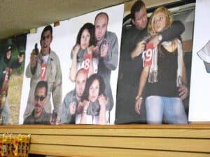 Targets at The Gun Store in Las Vegas
