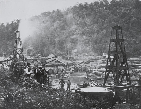 Oil City, PA in the 1870's