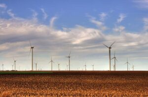 Kansas wind farm.