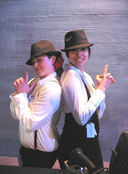 A pair of gun molls at The Las Vegas Mob Experience