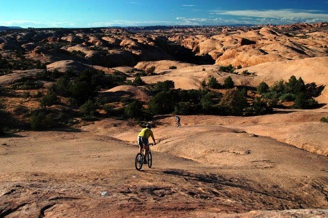 Riding the slickrock at Moab