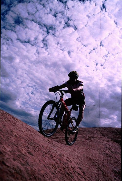 Mountain biking in Arches, Utah