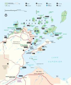 Apostle Island Map