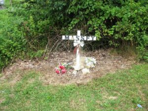 A front yard memorial near Beckley, WV