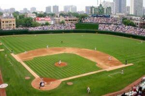 The sheer beauty and majesty of a baseball diamond.