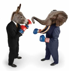 Congressmen fight it out in Washington DC