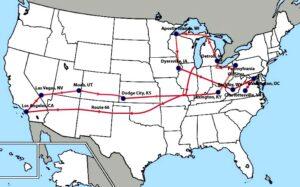 MAO map to Charlottesville, VA
