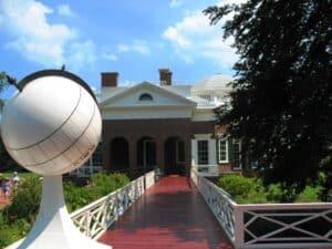 Monticello from the North Promenade